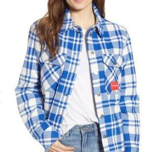 🆕️ CALVIN KLIEN Shirt Jacket/Faux Fur Lining